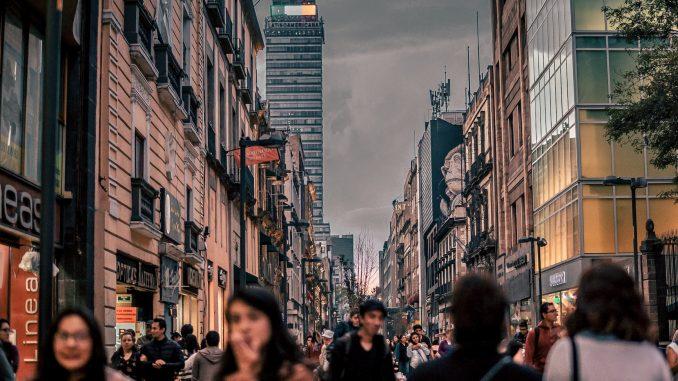 Fußgängerzone in Mexiko-Stadt